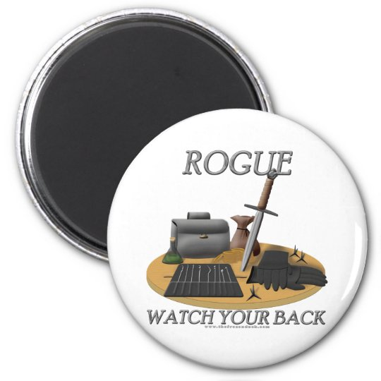 Rogue: Watch Your Back Magnet