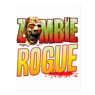 Rogue Zombie Head Postcard