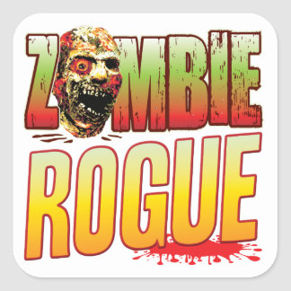 Rogue Zombie Head Square Sticker