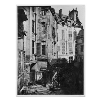 Rohan courtyard, Paris, 1858-78 Poster