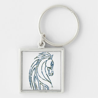 Rohan Kings Hall Banner Silver-Colored Square Keychain