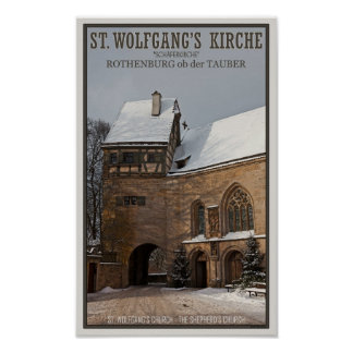 Rohenburg od Tauber - St Wolfgangs Church Posters