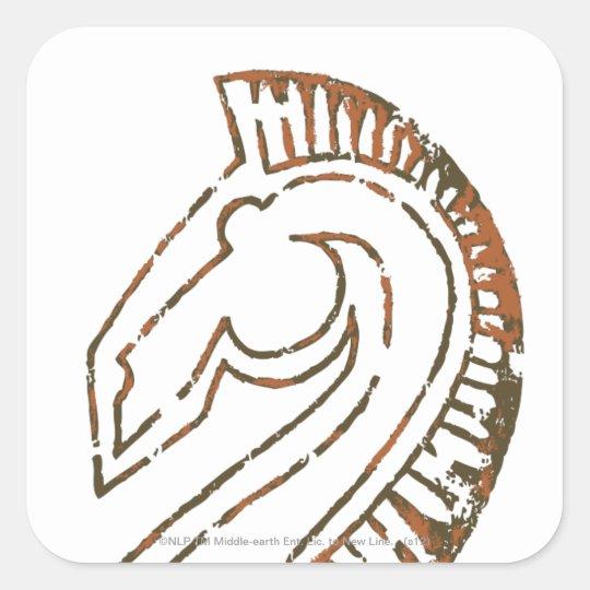 Rohirrim Flag Square Sticker