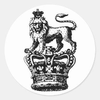 ROI DE LION PEGATINAS REDONDAS