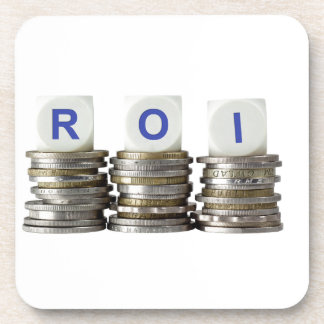 ROI - Return On Investment Drink Coaster