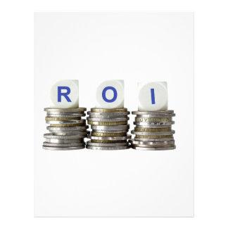 ROI - Return On Investment Letterhead
