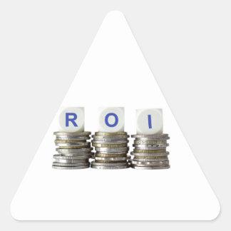 ROI - Return On Investment Triangle Sticker