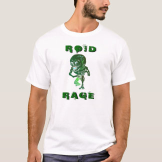 Roid Rage Angry Muscular Morphing T-shirt Design