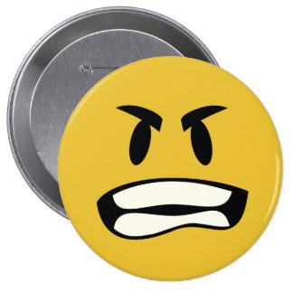 Roid rage emoji pinback button