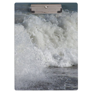 roiling waves on florida beach clipboard