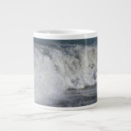roiling waves on florida beach jumbo mugs