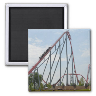 roiller coaster 2 inch square magnet