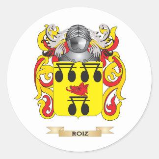 Roiz Coat of Arms (Family Crest) Classic Round Sticker