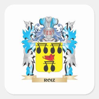 Roiz Coat of Arms - Family Crest Square Sticker