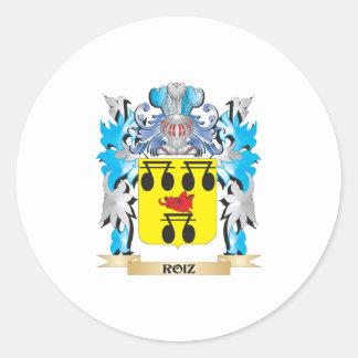 Roiz Coat of Arms - Family Crest Classic Round Sticker