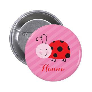 Roja botón personalizado pequeña mariquita del Pin