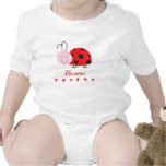 Roja enredadera infantil personalizada pequeña traje de bebé