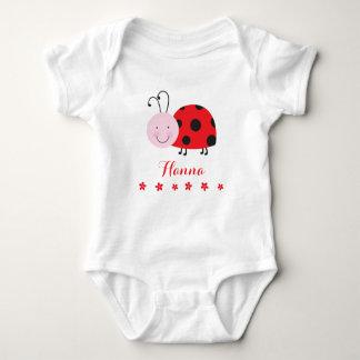 Roja enredadera infantil personalizada pequeña playera