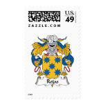 Rojas Family Crest Postage Stamps