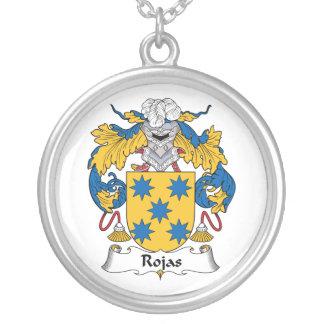 Rojas Family Crest Round Pendant Necklace