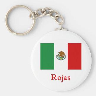 Rojas Mexican Flag Key Chain