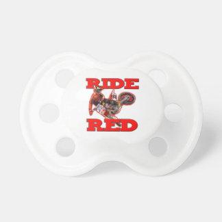 Rojo 13 del paseo chupete de bebé
