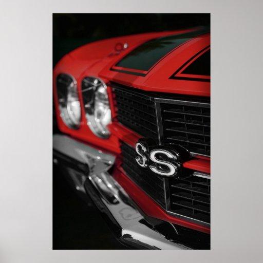 Rojo 1970 de Chevelle SS396 Póster