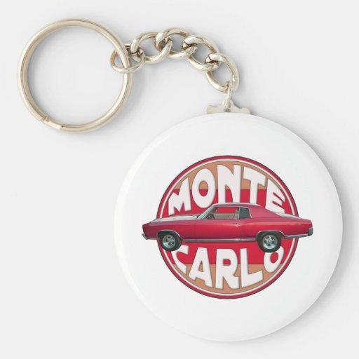 Rojo 1970 de Monte Carlo Llavero Redondo Tipo Pin