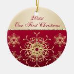 Rojo, 1r ornamento del recuerdo del navidad del or ornatos
