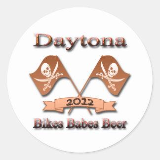 Rojo 2012 de Daytona de la cerveza de los bebés de Pegatina Redonda