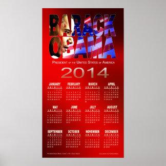 Rojo 2014 del calendario el | del recorte de Barac Posters