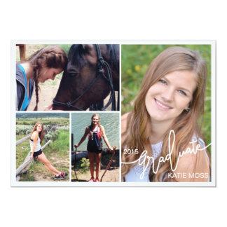 Rojo 2015 de la foto de la invitación 4 de la invitación 12,7 x 17,8 cm
