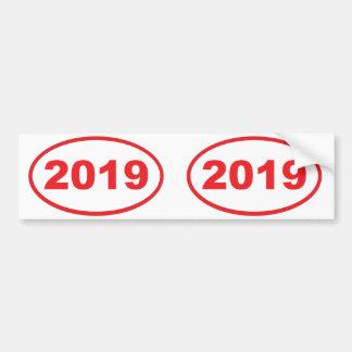 rojo 2019 pegatina para auto