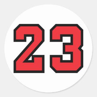 Rojo 23 pegatina