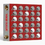 Rojo 2 de la carpeta del deporte del casco de fútb
