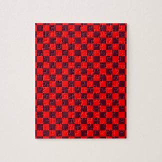 - Rojo 2 - escarlatas rojos y oscuros grande a cua Puzzle Con Fotos