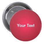 """Rojo 3"""" del arándano plantilla de encargo del botó pin"""