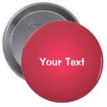 """Rojo 4"""" del arándano plantilla de encargo del botó pin"""