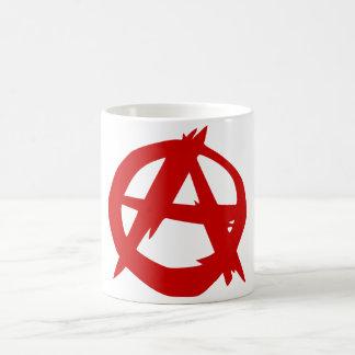 Rojo A del símbolo de la anarquía y círculo sin la Taza De Café