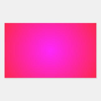 Rojo a la pendiente magenta pegatina rectangular