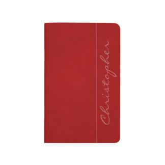 Rojo abigarrado firma