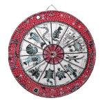 Rojo aborigen del horóscopo tablero dardos