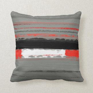 Rojo abstracto 4 almohadas