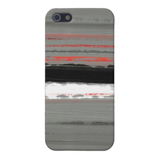 Rojo abstracto 4 iPhone 5 protectores