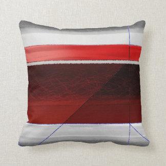 Rojo abstracto cojines