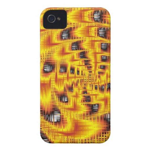 rojo abstracto de Thuesday iPhone 4 Case-Mate Cobertura