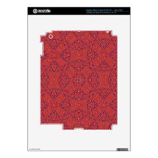 Rojo abstracto del modelo iPad 3 skins