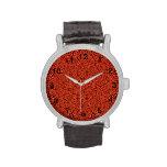 Rojo abstracto del modelo relojes de mano