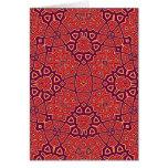 Rojo abstracto del modelo tarjeta de felicitación