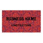 Rojo abstracto del modelo tarjetas de negocios